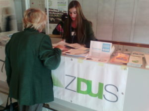 iCC leaflets at ZDUS stand, 3rd Age Festival Sept16